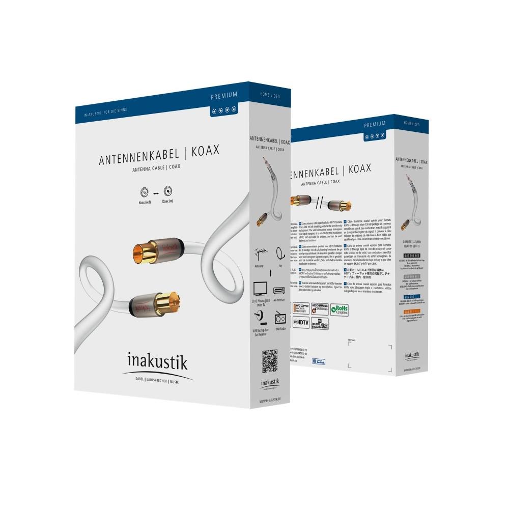 Antennekabel coax 100 dB - Premium - In-akustik