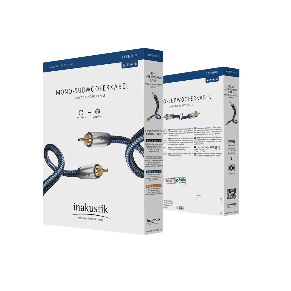 Subwooferkabel LFE - Premium - in-akustik