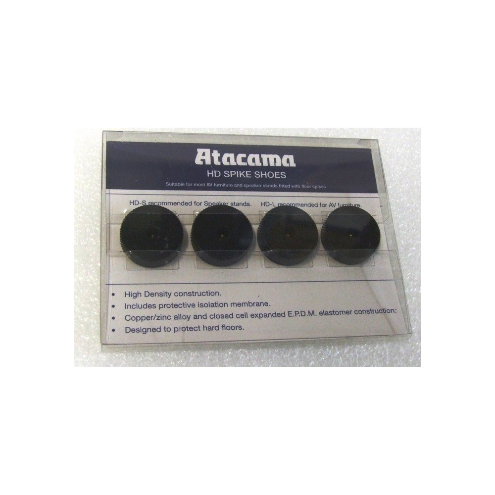 Atacama HD-L spikeunderlag / parkettbeskytter - 4 stk matt svart