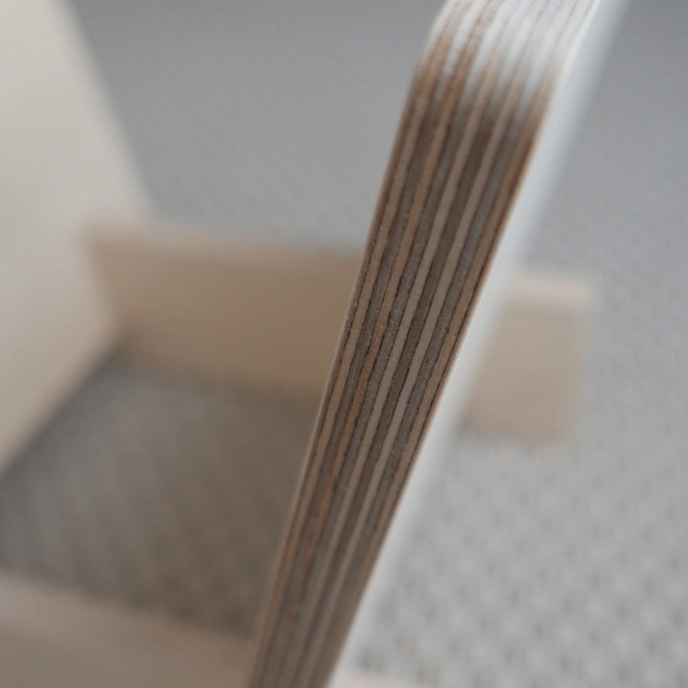 Vinylstativ / LP-stativ / platestativ kryssfinér bjørk - Lydglede