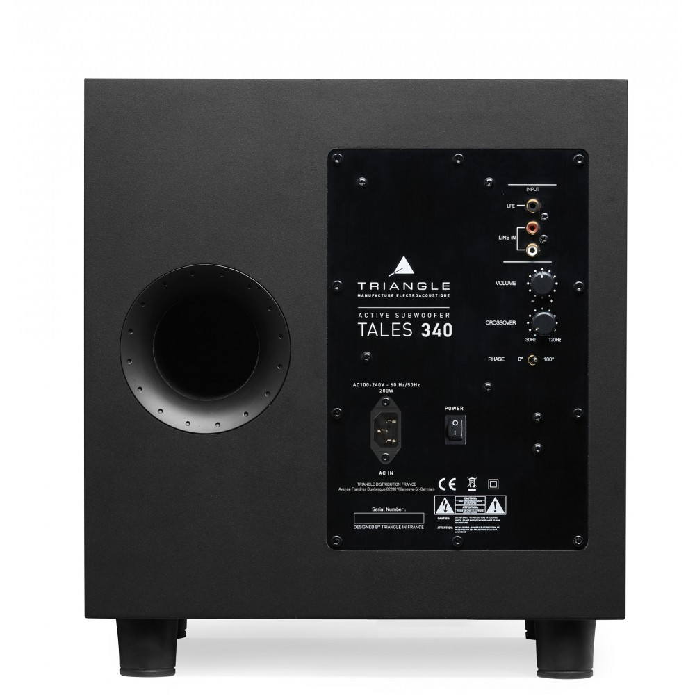 """Triangle Tales 340 - 10"""" subwoofer"""